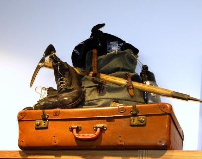 Historische Bergsteigerkleidung